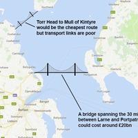 Civil servants have started 'proper piece of work' on £20 billion bridge between Northern Ireland and Scotland