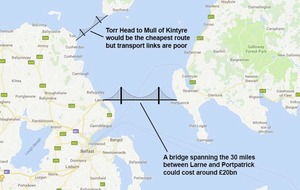 Civil servants have started 'proper piece of work' on £20 billion bridge between Northern Ireland and Scotland