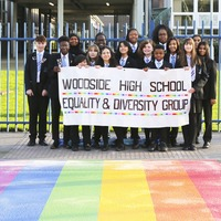School with LGBTQ+ rainbow crossing 'receives hundreds of abusive messages'