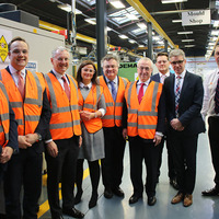 Boeing boss visits factory of Co Down firm Denroy Plastics