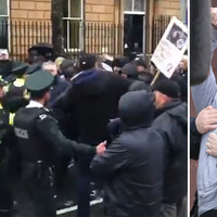 Police clash with protesters at Lyra McKee murder hearing