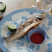 James St Cookery School: Thai style Spicy Fried Seabass and Vegetable Paper Rolls
