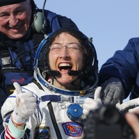 Watch: Astronaut Christina Koch reunited with her dog after year in space