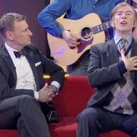 Steve Coogan sang Come Out, Ye Black and Tans on prime-time TV as `private bet'