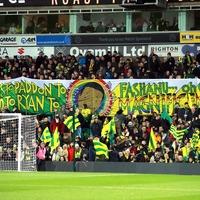 Norwich fans display Pride banner celebrating 'magnificent' Fashanu goal