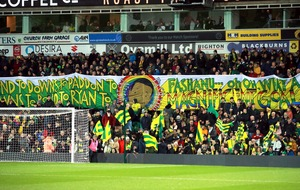 Norwich fans display Pride banner celebrating 'magnificent' Fashanu goal