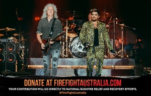 Queen and Adam Lambert repeat 1985 Live Aid set at bushfire concert in Australia