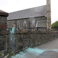 Paint bomb thrown at Catholic church