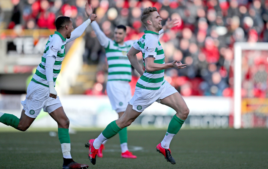Late Kristoffer Ajer winner forces Celtic past plucky Aberdeen