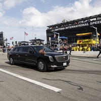 Donald Trump takes 'the Beast' for a spin around the Daytona 500 track