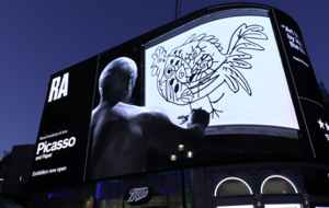 Pablo Picasso lights up Piccadilly in rarely-seen art film footage