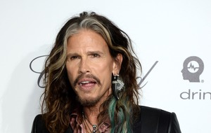 Steven Tyler seen in London ahead of gig honouring Fleetwood Mac's early years