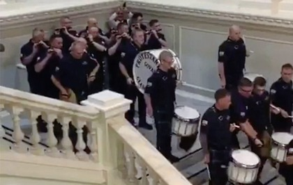 Loyalist band and Orange lodge barred from booking Belfast City Hall