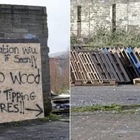 Belfast bonfire under construction – in February