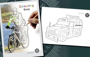 PSNI colouring books printed to help children deal with stress