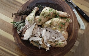 James St Cookery School: Roast chicken with herbs, crab fried rice