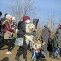 13,000 people gather at Turkey-Greece border after escalation in Syria fighting