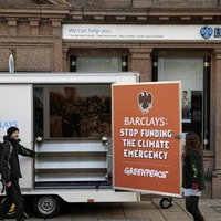 Greenpeace climate protest forces Belfast bank closure