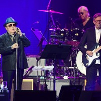 Van Morrison joins Eric Clapton on stage at cancer fundraiser