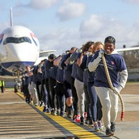 Gary Lineker and Nicola Adams join plane-pull record attempt for Sport Relief