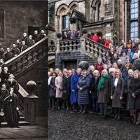 Female university staff recreate 150-year-old all-male professors' photo