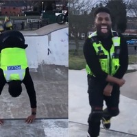 Birmingham Pc delights social media with impromptu skating masterclass
