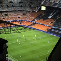 Statue of late Valencia superfan watches club alone in the Champions League