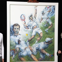 Sir Andy Murray dons Wimbledon whites for new portrait