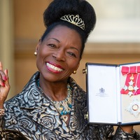 Baroness Floella Benjamin says she 'adores' Charles as she collects damehood