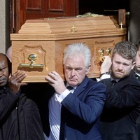 Mourners at funeral of Barney Eastwood hear him described as one of 'brightest stars'