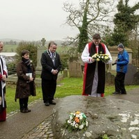 Annual pilgrimage walk to Downpatrick takes place as wreath laid at grave of St Patrick
