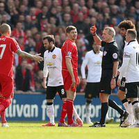 On this day in 2015: Liverpool star Steven Gerrard sees red against Man Utd