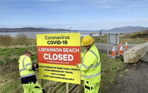 All Donegal beaches closed to stop coronavirus spread