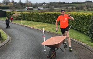 Tyrone man runs marathon in his driveway to raise money for NHS