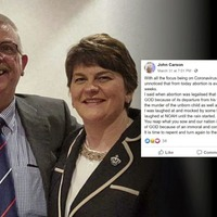 DUP man issues apology for blaming coronavirus on abortion and gay marriage
