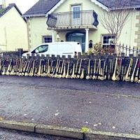 All 83 used hurls collected from McNaughton household