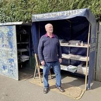 Belfast newspaper vendor keeping people up to date during Covid-19 lockdown
