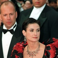 Ex-partners Bruce Willis and Demi Moore in comic self-isolation family snap