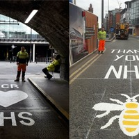 Manchester pays tribute to NHS staff with Nightingale Hospital road markings