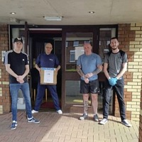 IRSP members donate personal protection equipment to Shankill Road care home