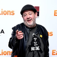 Johnny Vegas gets head shaved with clippers on two-metre pole for charity