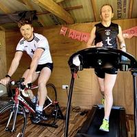 Former Tyrone star Seanie Meyler completes fundraising marathon in his garden shed