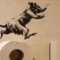 Banksy creates new work in lockdown – in his bathroom