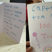 'She made it her priority' – children make birthday cards for veteran's 100th