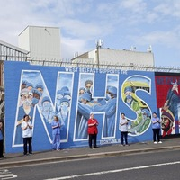 Video: New mural completed in west Belfast in honour of NHS