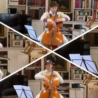 Cellist wins Test Match Special acclaim with four-part rendition of famous theme