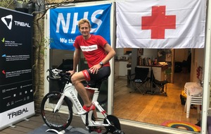 Amateur athlete completes triathlon in back garden to raise money for NHS