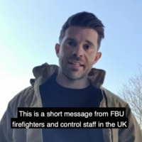 Watch: British Firefighters send message of solidarity to Italian counterparts