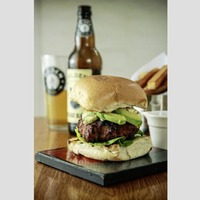 James Street Cookery School: Blue cheese and avocado burger, tomato and feta salad