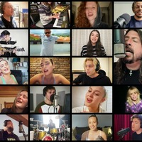 Stars sing from their studios, bedrooms and bathrooms in all-star Live Lounge